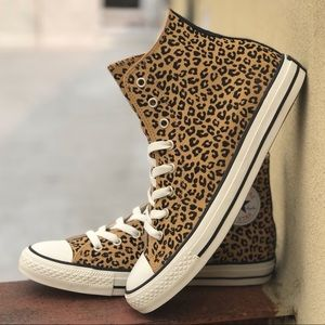Converse Chuck Taylor All Star Leopard Shoes NWT